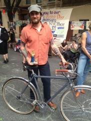 Benjamin with his Benjamin Bicycle- Best Hand-built